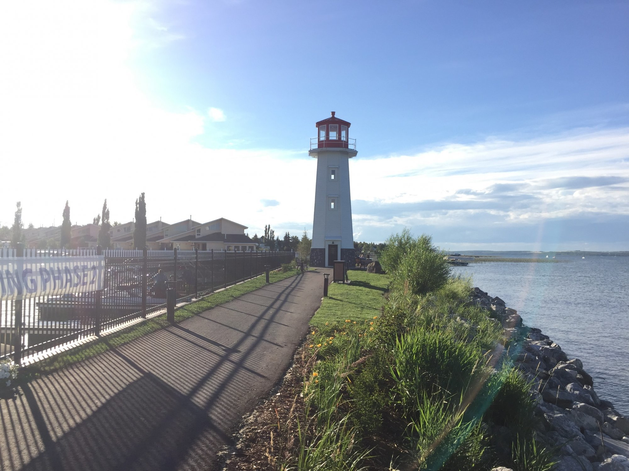 Lighthouse near Sylvan Lake homes